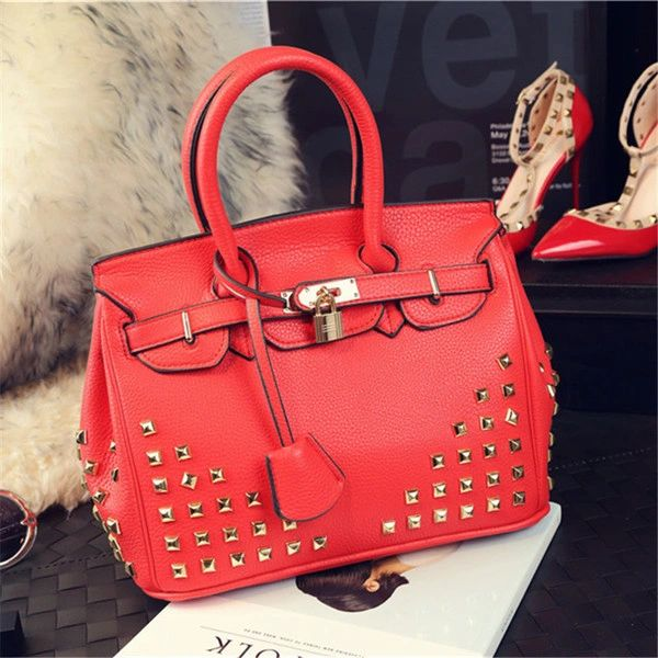 Euro Rivet Vintgae Handbag For Woman