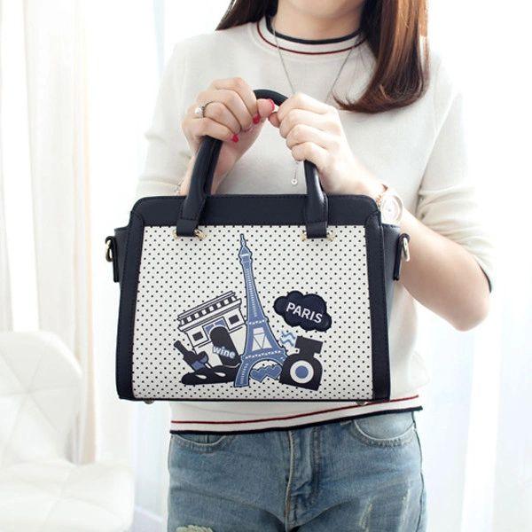 Cartoon Pattern Dot Sweet Shoulder Bags