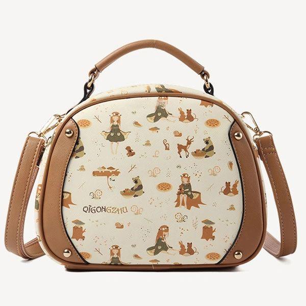 Vintage Sweet Cartoon Pattern Dreaming Shoulder Bags