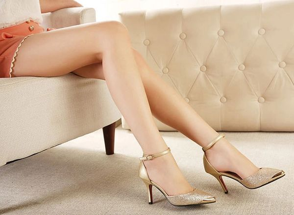 Japanese 2014 Summer Hot Sale Pump Junoesque Seductive Sharp Toe Color Block Women High Heel Pump Size 35-39