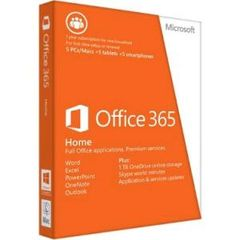 Office 365 Home 32-bit/x64 English Subscription 1 License APAC DM Medialess 1 Year