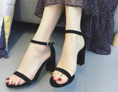 Chunky Solid Sandals For Girls