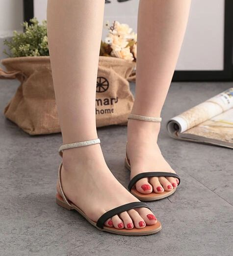 Summer Hollow Out Buckle Strap Open Toe Sandal