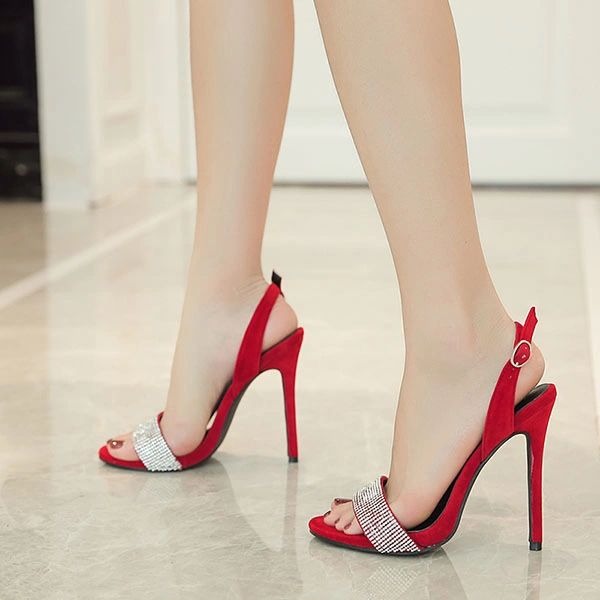 New Arrival Diamonds Stiletto Sandals