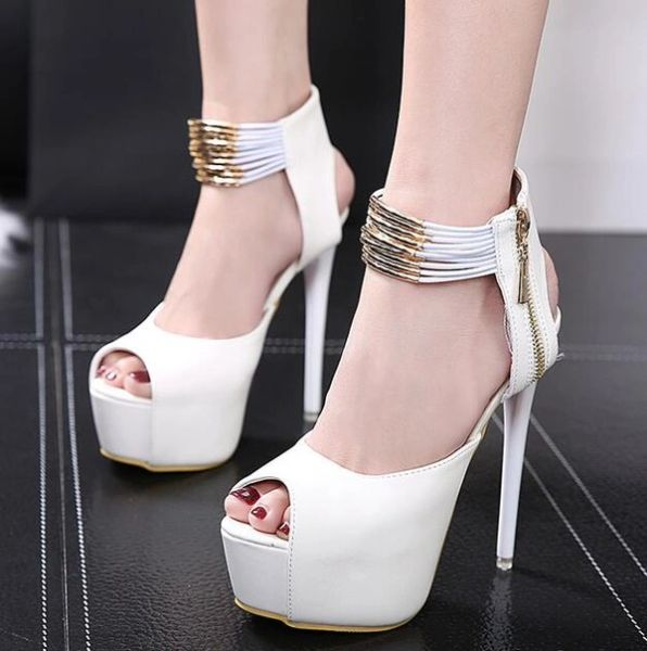 Peep Toe Platform Women Heels Pumps