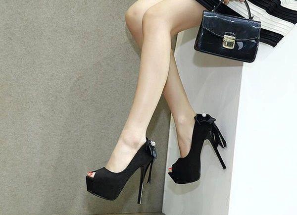 Peep Toe Platform Women Heels Pumps