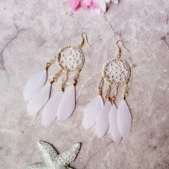 Outlet Dreamcatcher Feather Boho Earrings