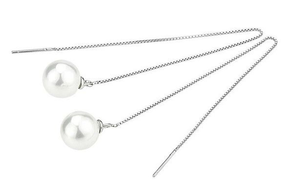 Cheap Outlet Pearl Pendant Sweet Earrings