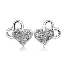 New Heart Shape Silver Earrings