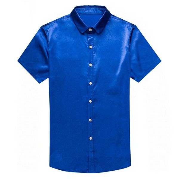 Euro Solid Color Turn Down Collar Shirt(3-4 Days Delivery)