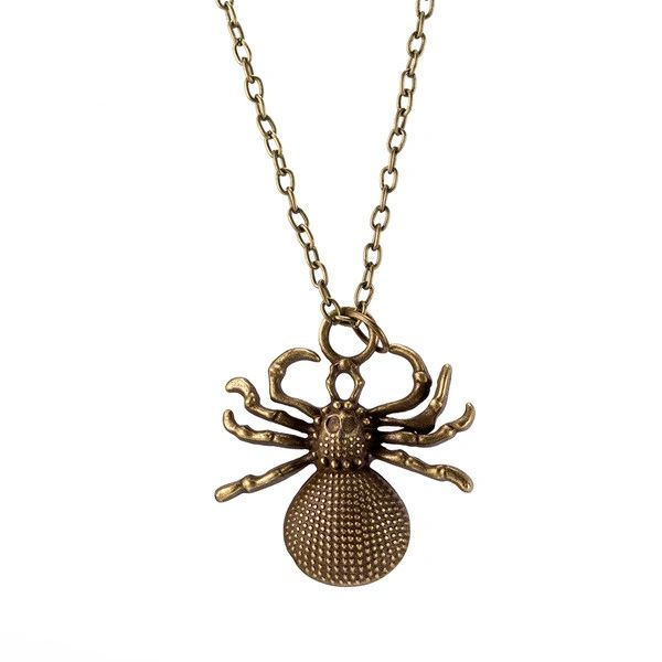 Punk Style Bronze Spider Necklaces