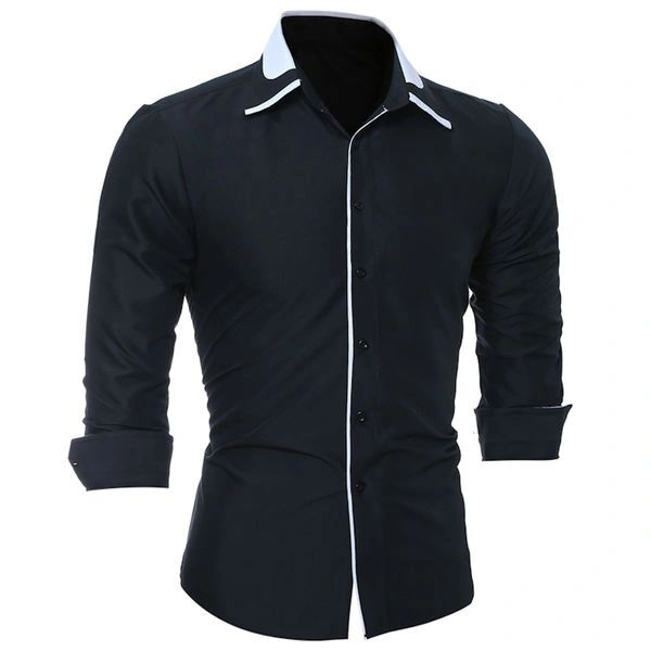 Concise Style Turn Down Collar Business Shirts