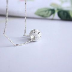 White Copper Spherical Pendant Geometric Necklaces