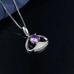 Diamond Pendant Geometric Elegant Evenning Necklaces