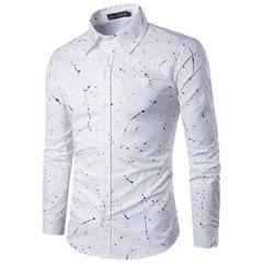 Men Prints Long Sleeve Casual Shirts