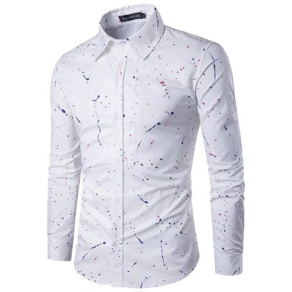 Men Prints Long Sleeve Casual Shirts