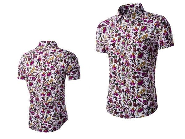 Wholesale Fashion Print Floral Turndown Collar Casual Shirt