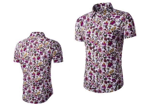 Wholesale Fashion Print Floral Turndown Collar Casual Shirt