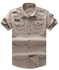 Cheap Outlet Button Down Check Pocket Shirt