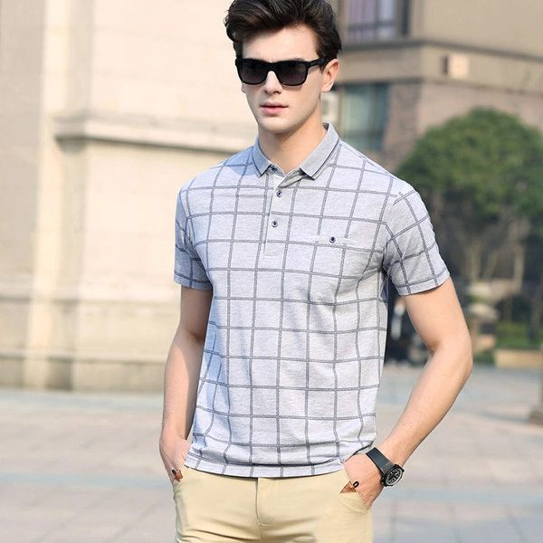 New Plaid Turn Dow Collar Casual Top (3-4 Days Delivery)