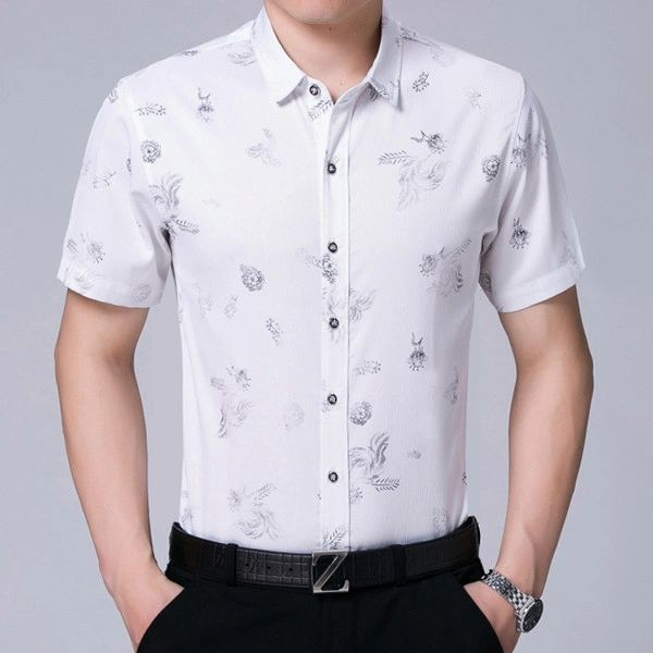 Fashion Floral Prints Good Quality Dress Shirts (3-4 Days Delivery)