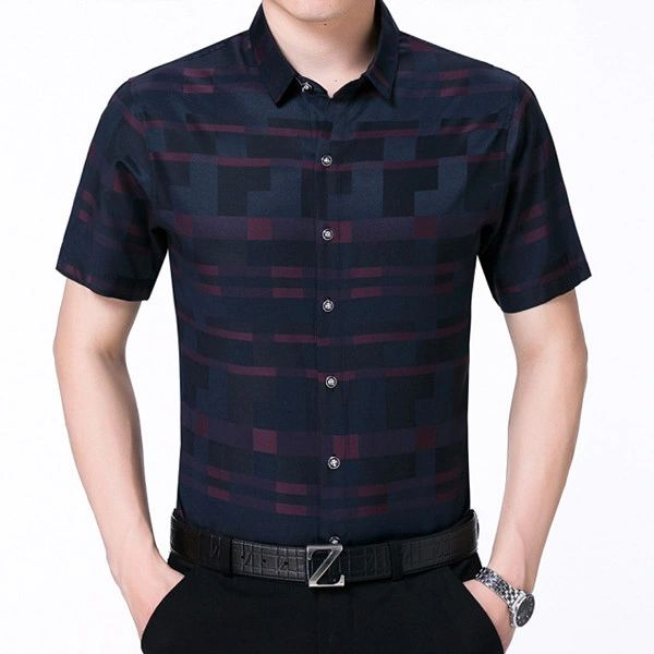 Man Single Breasted Check Loose Shirt (3-4 Days Delivery)