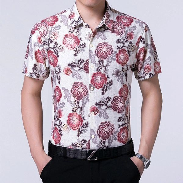 Turn Down Collar Floral Prints Chic Shirts (3-4 Days Delivery)