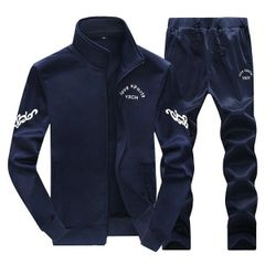 Teenager Style Prints Sports Suits Men