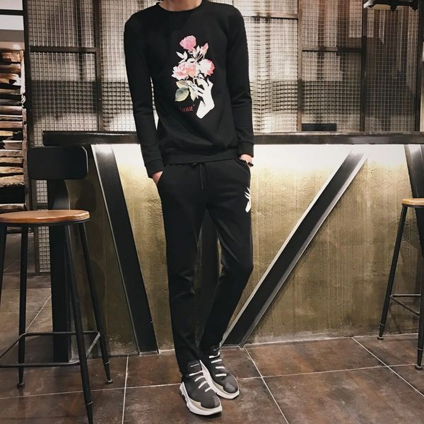 Chic Floral Prints Pullover Activewear