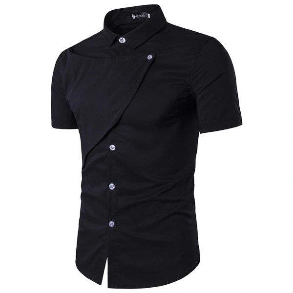 Fashion Solid Single Breasted Men Shirts
