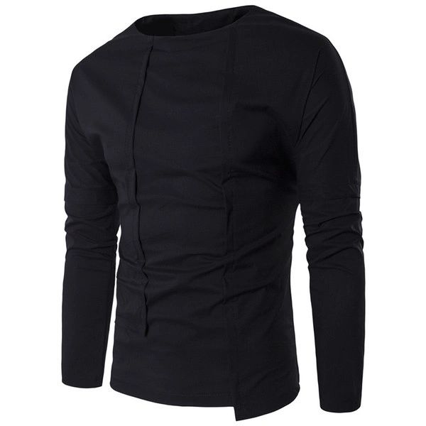 Patchwork Solid Simple Design Men Shirts