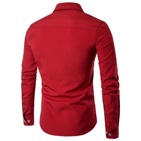Hot Sale Contrast Color Long Sleeve Shirts