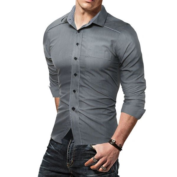 Outlet Fashion Men Regular Dress Shirt