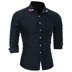 Classical Men Button Closure Dress Shirts