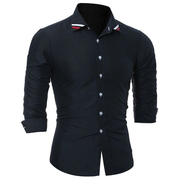 Classical Men Button Closure Dress Shirts