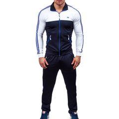 Color Block Long Sleeve Zipper Men Sport Suit