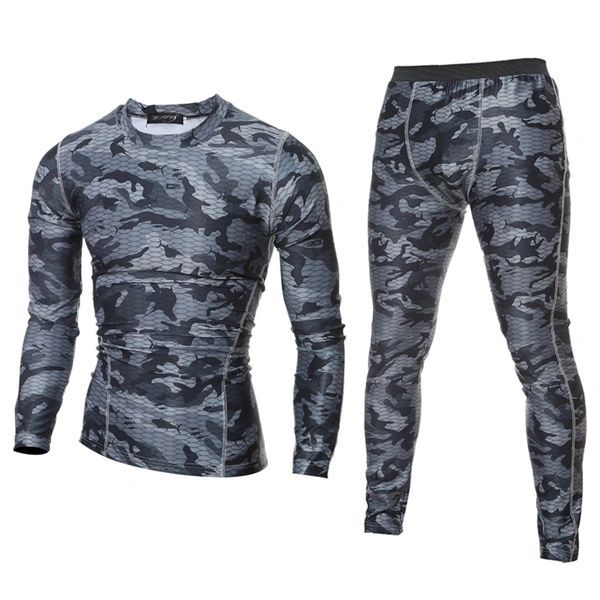 Outlet Camouflage O Neck Men Sport Suit