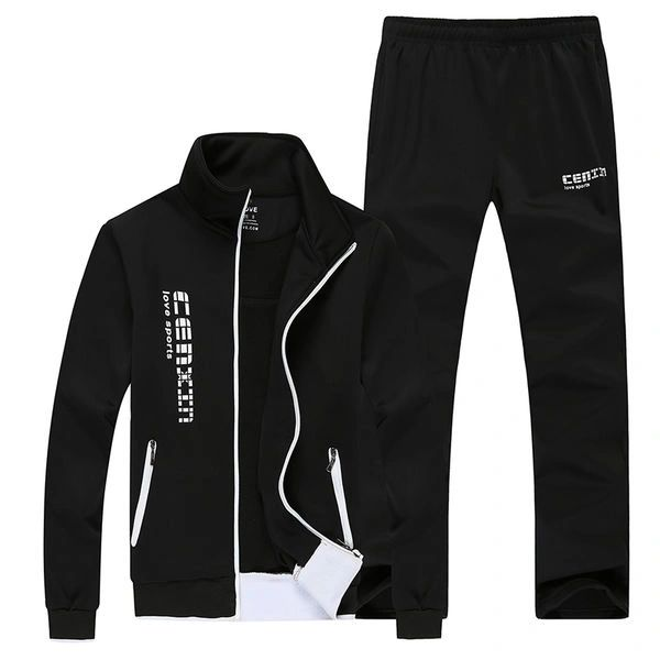 Casual Letter Long Sleeve Pocket Men Activewear