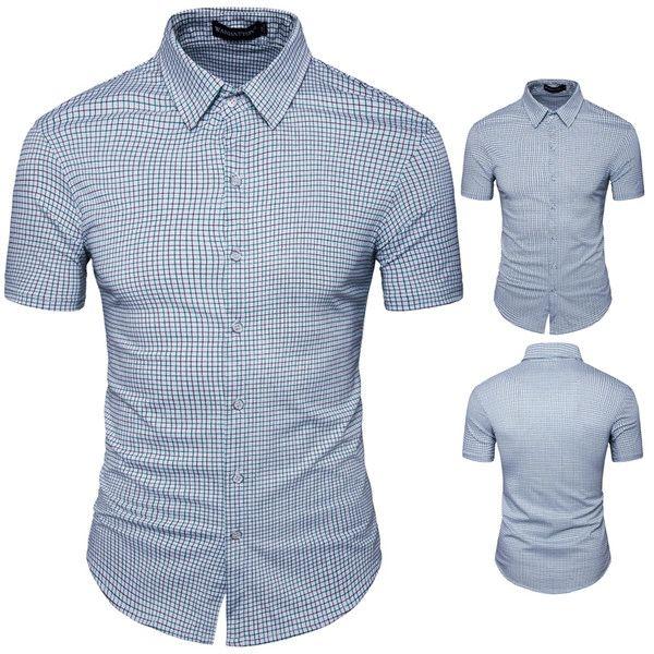 Chic Plaid Button Down Short Sleeve Shirts