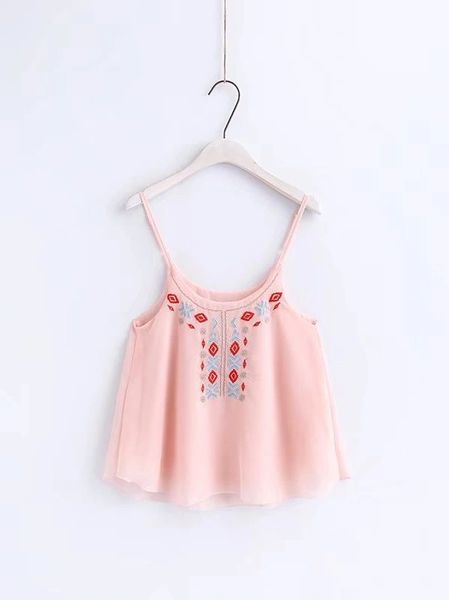 National Embroidery Loose Tank Top (3-4 Days Delivery)
