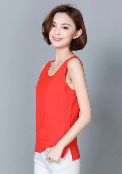 Cheap Sleeveless Basic Tank Top