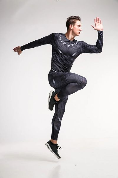 Men Long Sleeve Suits for Sports