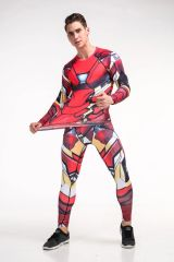 Print O Neck Long Sleeve Fitted Suits