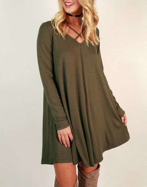 Wholesale V Neck Short Dresses