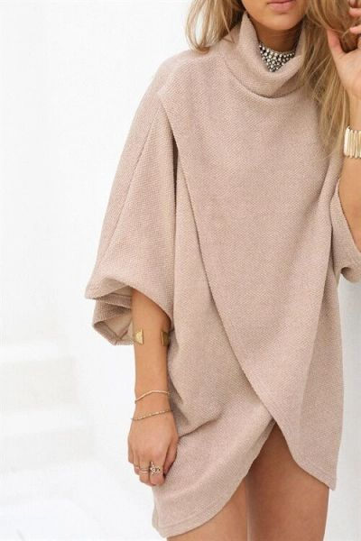 Outlet High Neck Sweater Winter Dresses