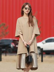 O Neck 3/4 Sleeve Cheap Short Dresses