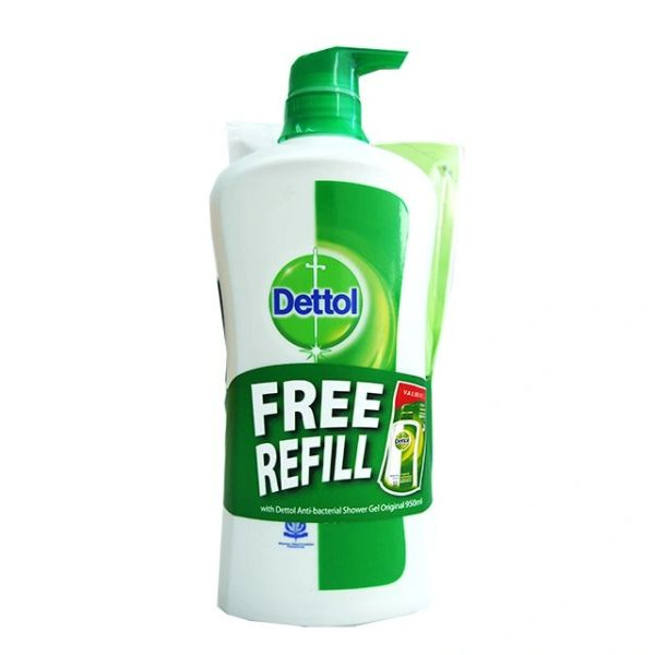 Dettol Body Wash 950ml Free Refill Fresh 250ml