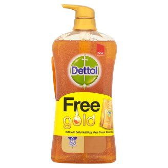 Dettol Gold Classic Clean Body Wash 950ml Free Refill 250ml