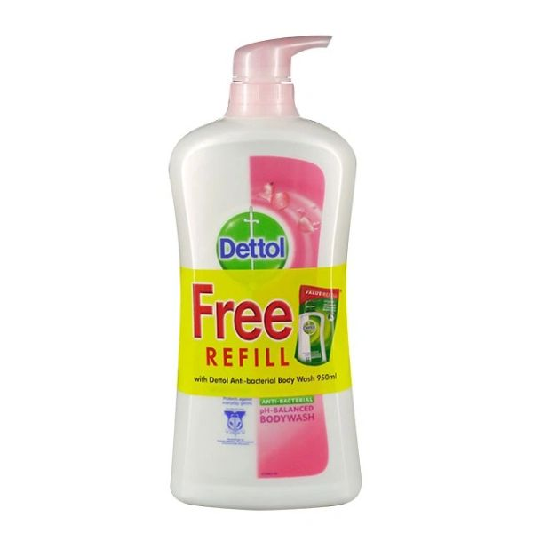 Dettol Skin Care Body Wash 950ml Free Fresh Refill 250ml