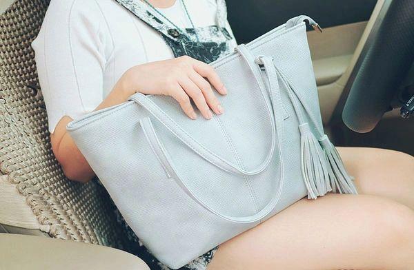 Fashion Fringe Zipper Women Handle Bag